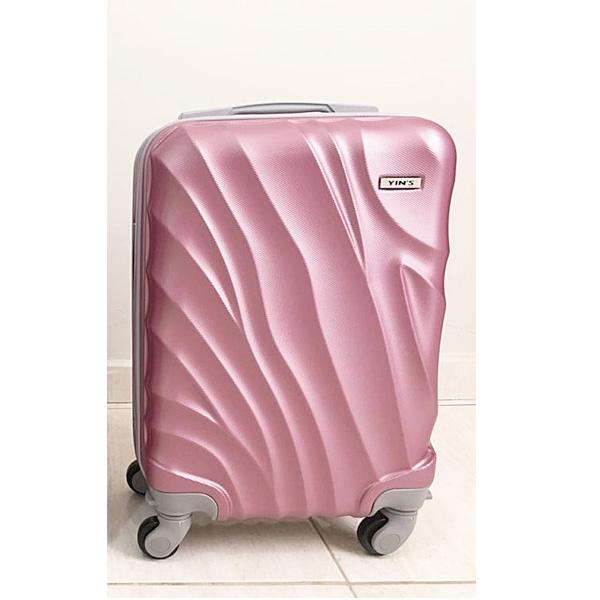 Mala ANAC PP 18 Polegadas ABS Rosa Yin's Viagem Até 8 Kg