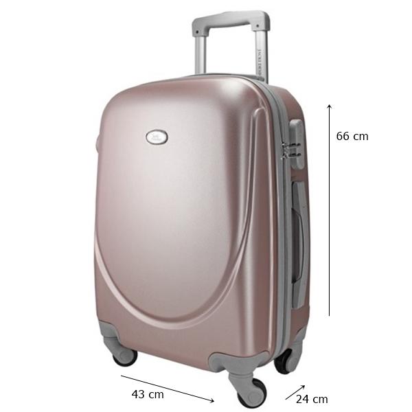 Mala Select M Com 4 Rodinhas 360 Rosa Bagagem Jacki Design