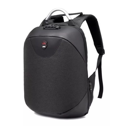 Mochila Anti Furto Laptop USB Notebook Cadeado + Cinto