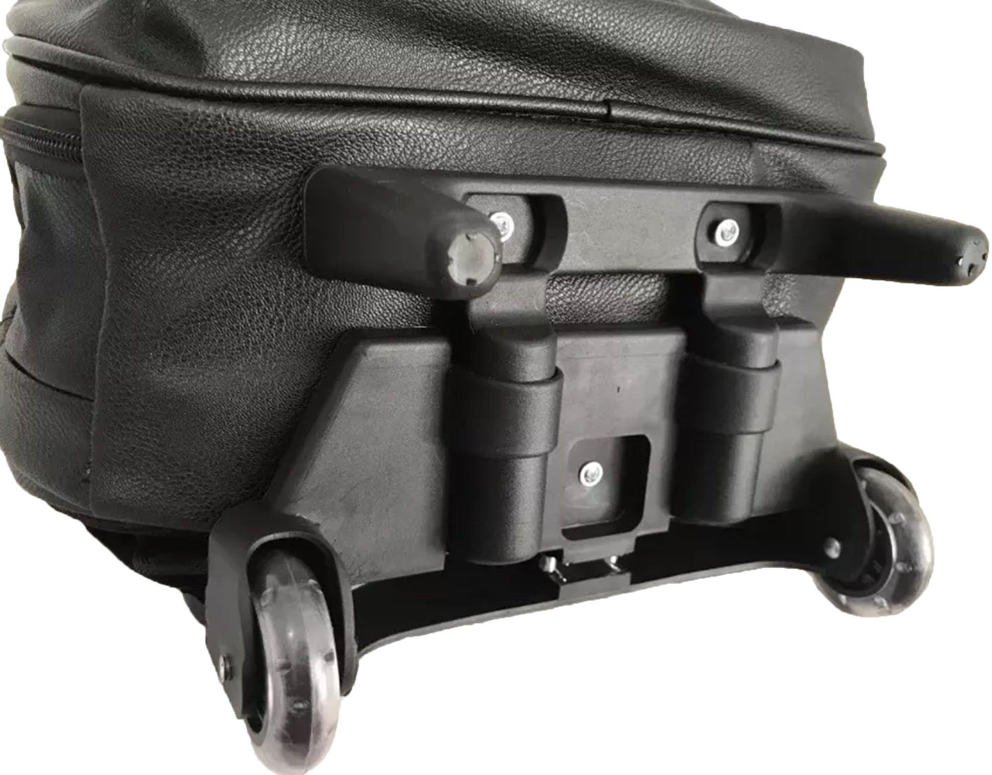 Mochila De Rodinha Unissex 28 litros com Puxador Reforçado