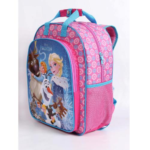 Mochila G Frozen Escola Menina Original Rosa