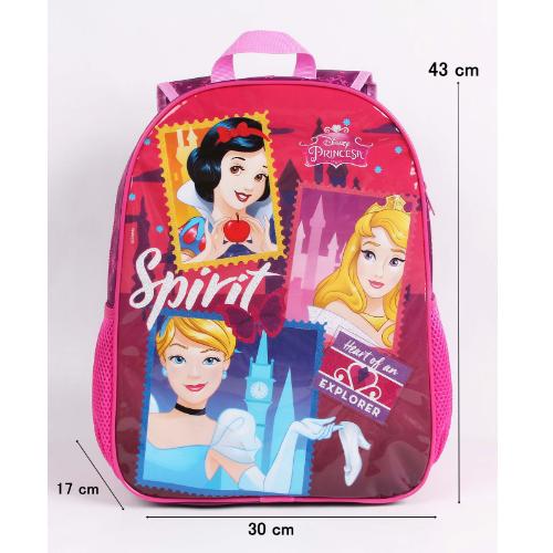 Mochila G Princesas Escola Menina  Disney Original Rosa e Roxo
