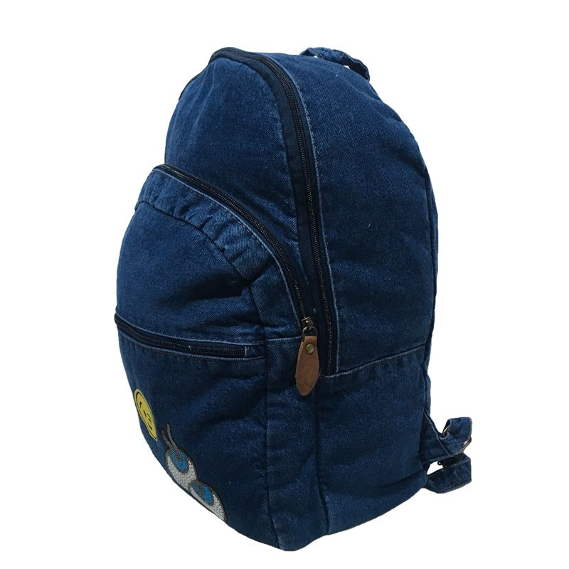 Mochila Jeans Azul Emoticons Oops
