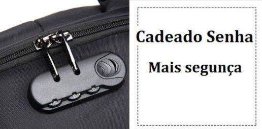 Mochila Notebook Anti Furto Cadeado Embutido Premium