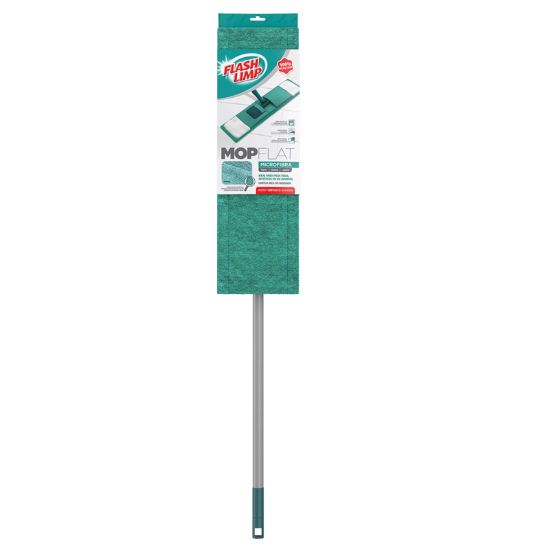 Mop Flat Microfibra Faxina Limpeza Flash Limp