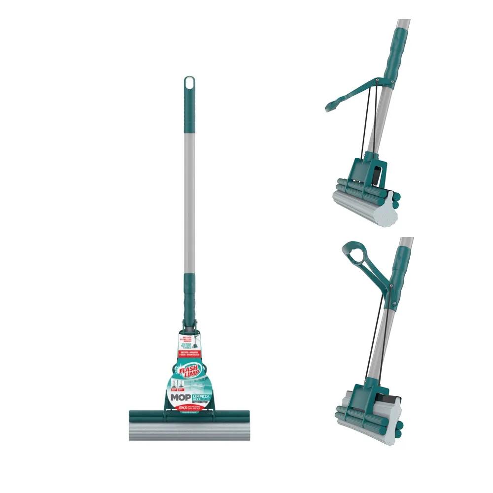 Mop Rodo Limpeza Geral Plus Flashlimp Original