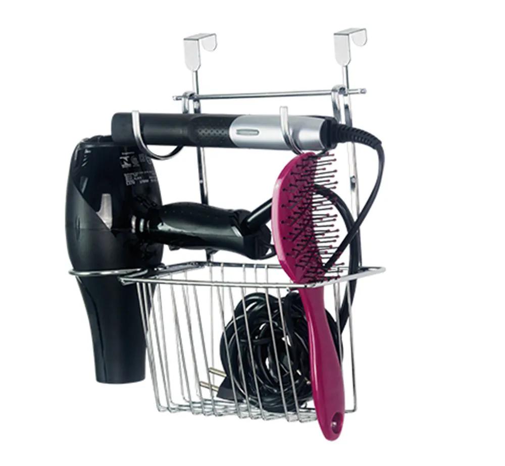 Organizador Suporte Para Secador E Chapinha Cesto Porta Escova Com Kit Fixação Para Parede E Portas  Passerini