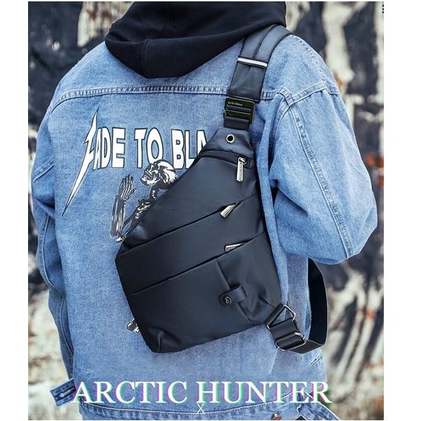 Peito Saco Pochete Viagem Homem Sling Masculino Arctic Hunter Preto