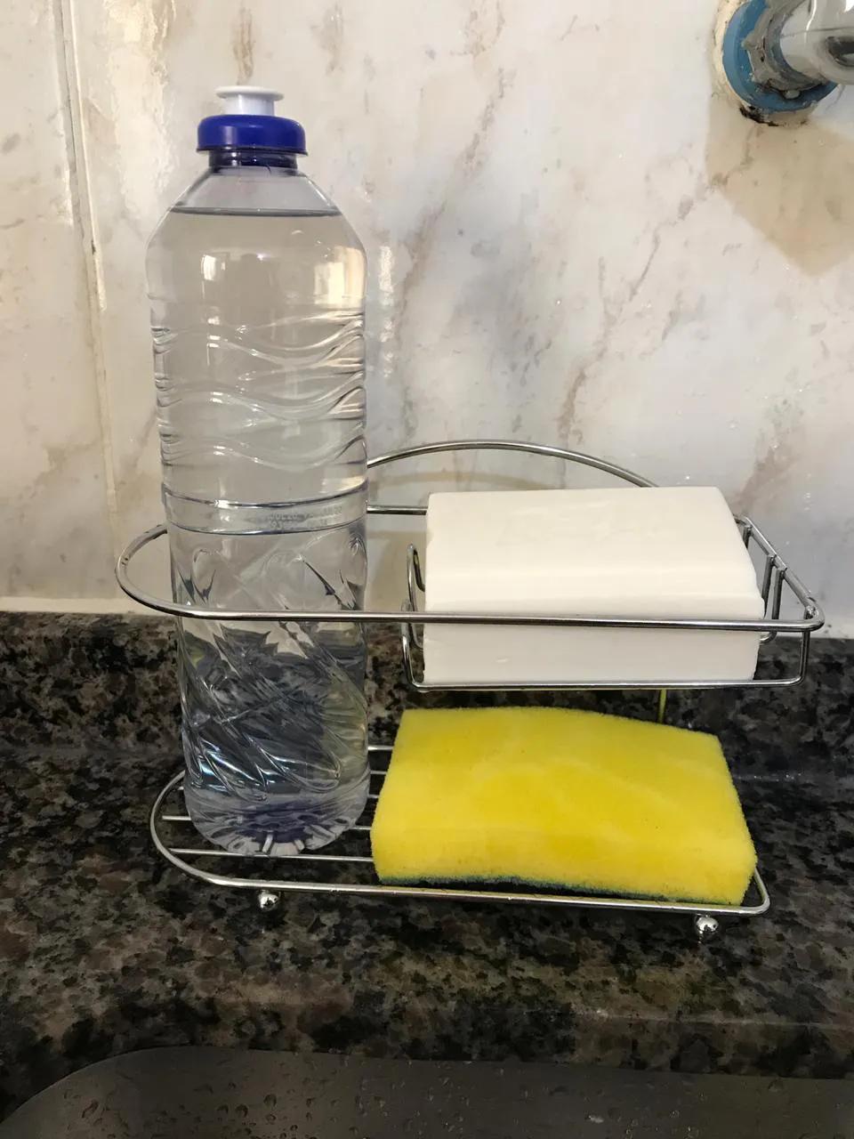 Suporte Porta Detergente Esponja Sabão Organizador para Pia Passerini