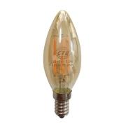 Lâmpada Retrô Filamento LED 3.2W Vela E14 Bivolt Branco Quente 2300K