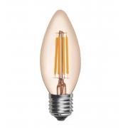 Lâmpada Retrô Filamento LED 3,2W Vela E27 Bivolt Branco Quente 2300K