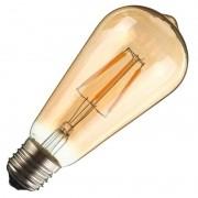 Lâmpada Retrô Filamento LED 4W ST64 E27 Bivolt Branco Quente 2200K