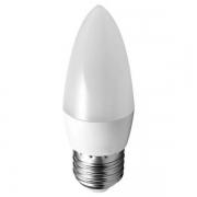 LAMPADA VELA LED 4.8W E27 BIVOLT - BRANCO QUENTE 3000K