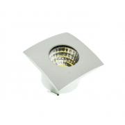 MINI SPOT LED DOWNLIGHT COB 3W 32X32MM QUADRADO BIVOLT - BRANCO FRIO 6000K