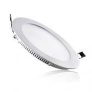 Painel LED Embutir 12W ∅ 17CM Redondo Bivolt Branco Quente 3000K