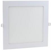 Painel LED Embutir 18W 22X22CM Quadrado Bivolt - Branco Quente 3000K