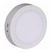 Painel LED Sobrepor 18W ∅ 22CM Redondo Bivolt Branco Quente 3000K