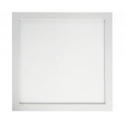 Painel LED Sobrepor 36W 40X40CM Quadrado Bivolt - Branco Quente 3000K