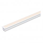 Perfil Embutir Gesso Para Fita LED Barra 3 Metros Branco