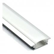 Perfil Embutir Para Fita LED Barra 2 Metros Aluminio/Natural 21x07mm Slim