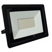 Refletor LED 100W Potencia Real IP66 Bivolt Branco Quente 3000K