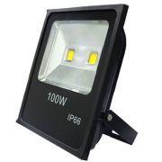 Refletor LED 100W Real IP66 COB Bivolt Branco Quente 3000K