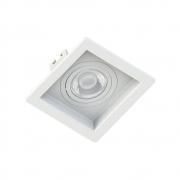 Spot Embutir Click Orientável Recuado Quadrado Mini Dicroica GU10 Branco