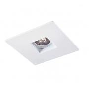 Spot Embutir Quadrado Mini Laser GU10 Branco Furo Quadrado