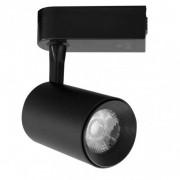 Spot LED Trilho 7W Preto Bivolt Branco Quente 3000K