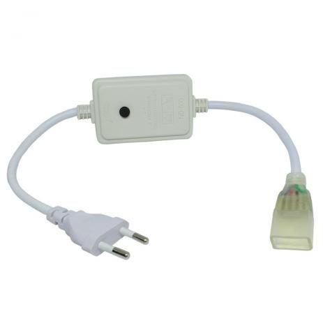 Alimentador para Fita LED 7.2W 127V RGB Botão Liga até 20 metros de fita IP20