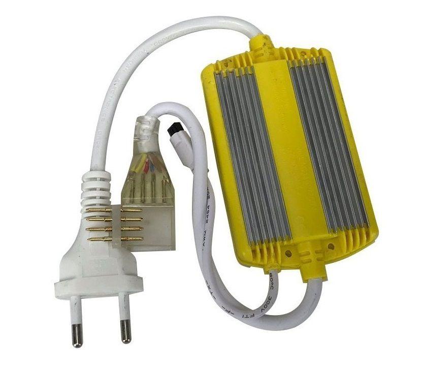 Alimentador para Fita LED 7.2W 127V RGB + Controle Remoto - Liga até 50 metros de fita IP66