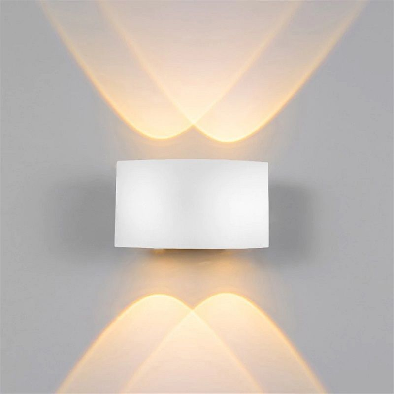 Arandela LED 12W Facho Duplo 4 LEDs Bivolt Branco Quente 3000K - ULTIMAS UNIDADES