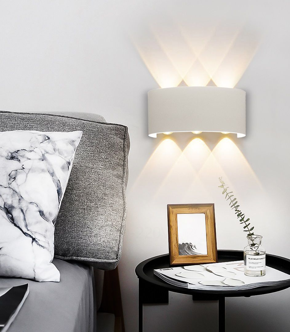 Arandela LED 24W Facho Duplo 6 LEDs Bivolt Branco Quente 3000K