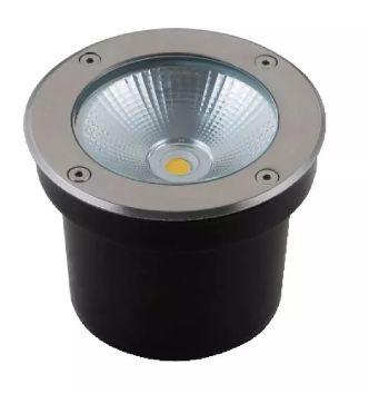 Balizador de Piso LED 10W IP67 Bivolt Branco Quente 3000K