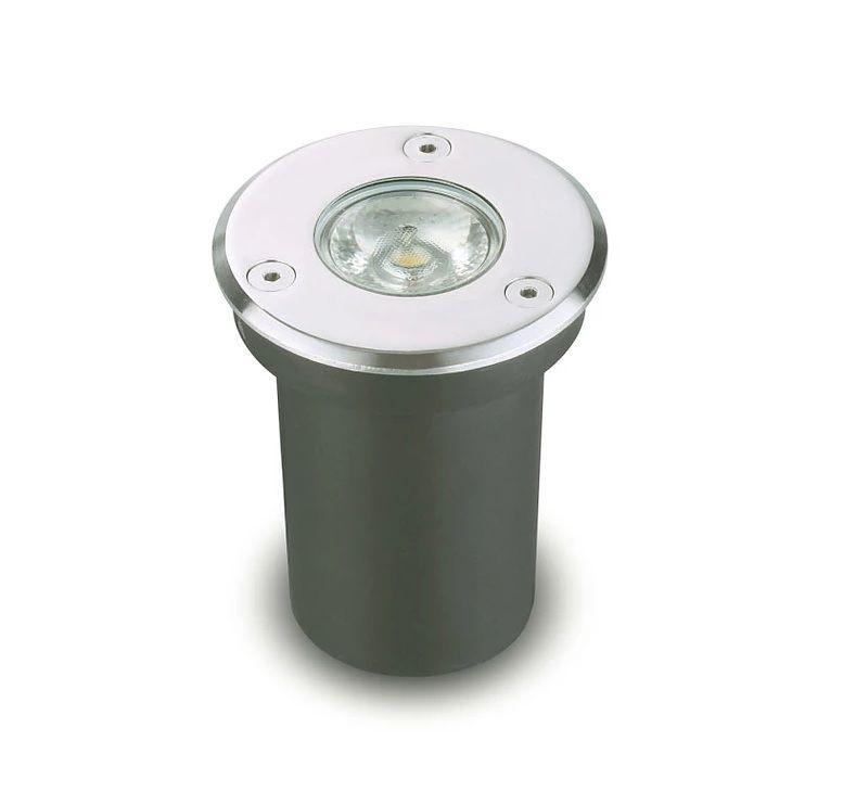 Balizador de Piso LED 3W IP67 Bivolt Branco Quente 3000K