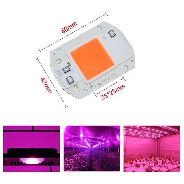 Chip LED COB 50W Full Spectrum 220V
