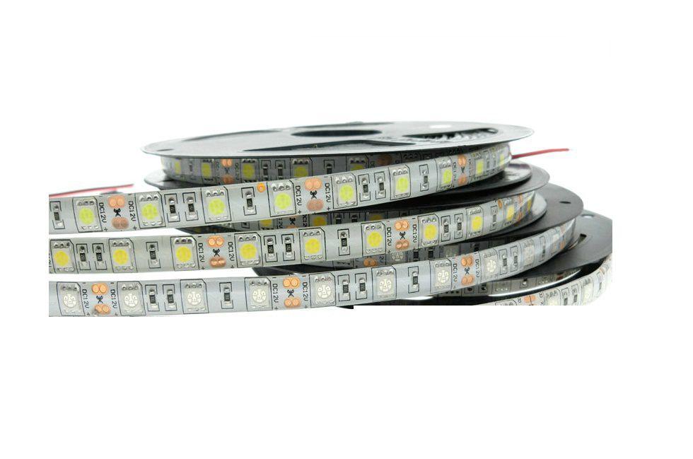 Fita LED 14.4W SMD5050 IP20 12V Branco Quente 3000K Rolo 5M