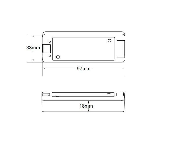 Dimmer LED 12V com Controle RF 2.4G