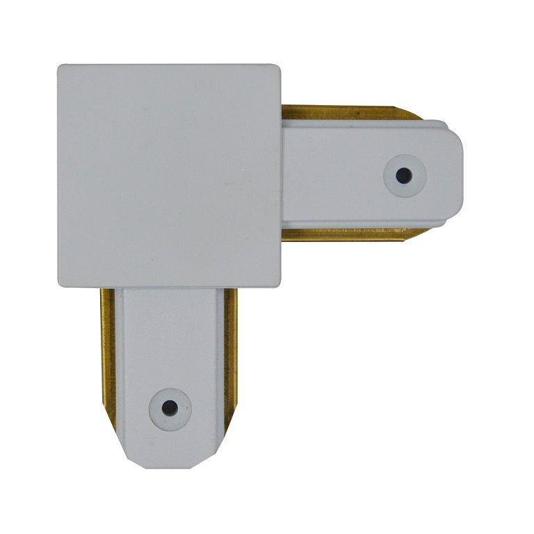 Emenda Curva 90º P / Trilho Eletrificado Branco