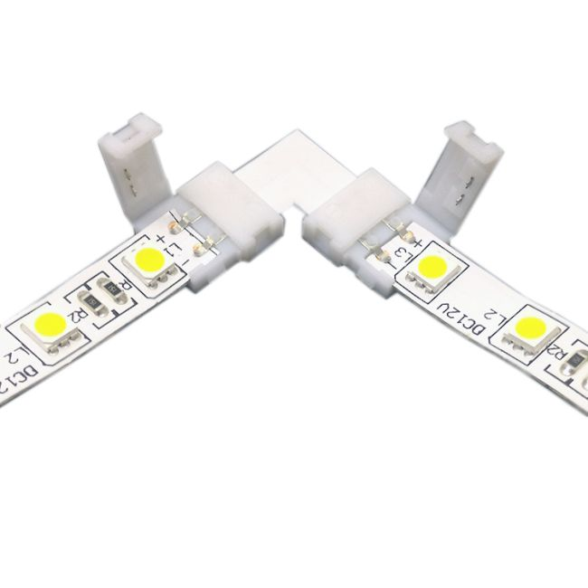 Emenda Curva 90º para Fita LED SMD5050