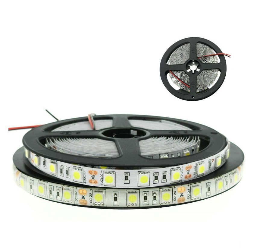 Fita LED 14.4W SMD5050 IP20 12V Branco Neutro 4000K Rolo 5M