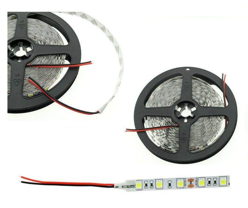Fita LED 14.4W SMD5050 IP20 12V Branco Quente 2700K Rolo 5M