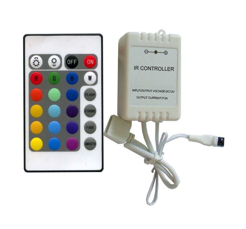 Fita LED 14.4W SMD5050 IP20 12V RGB Rolo 5M Com Controle