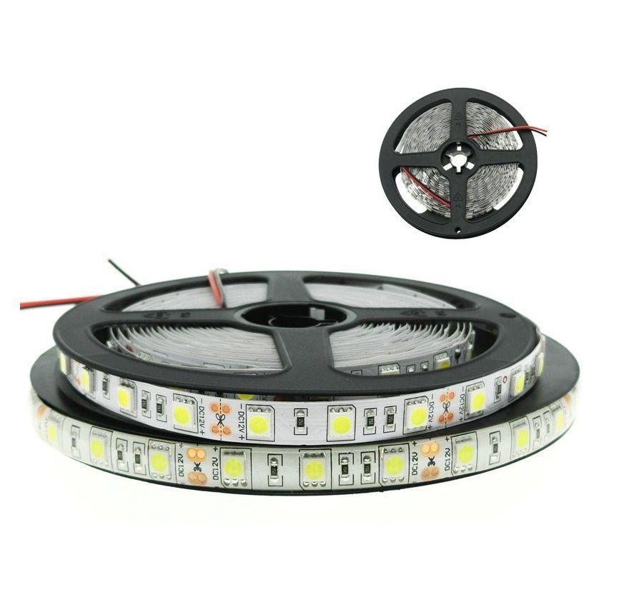 Fita LED 14.4W SMD5050 IP20 12V Vermelho Rolo 5M
