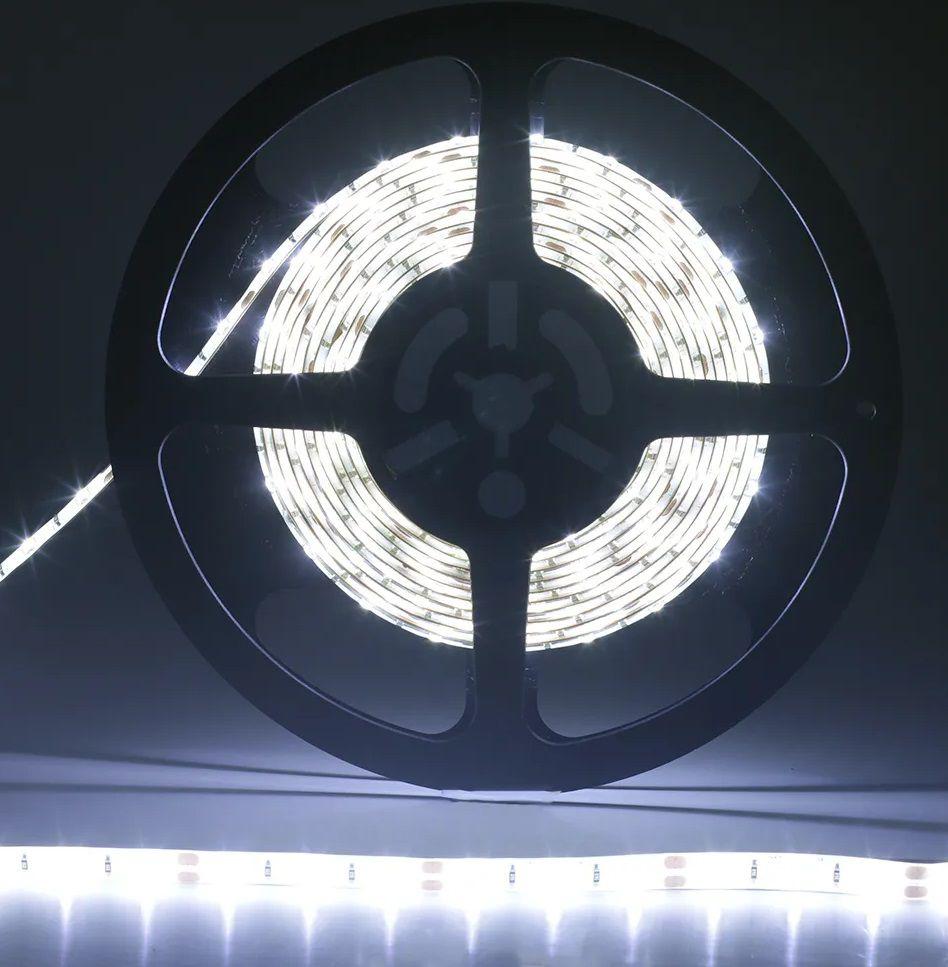 Fita LED 14.4W SMD5050 IP65 12V Branco Frio 6500K Rolo 5M