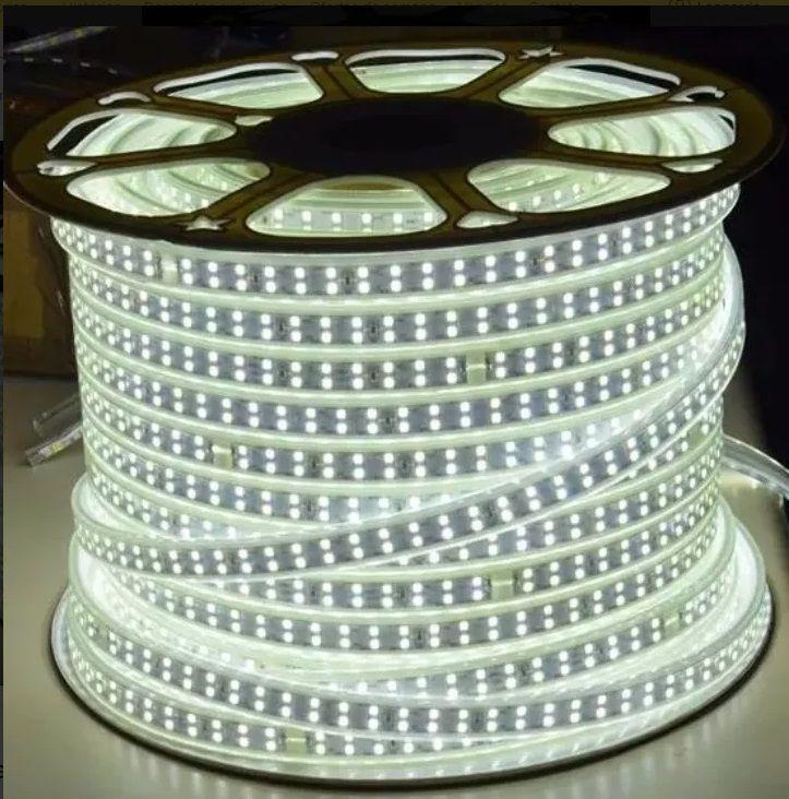 Fita LED 14.4W SMD5050 IP67 LED Duplo 127V Branco Frio 6000K 1M
