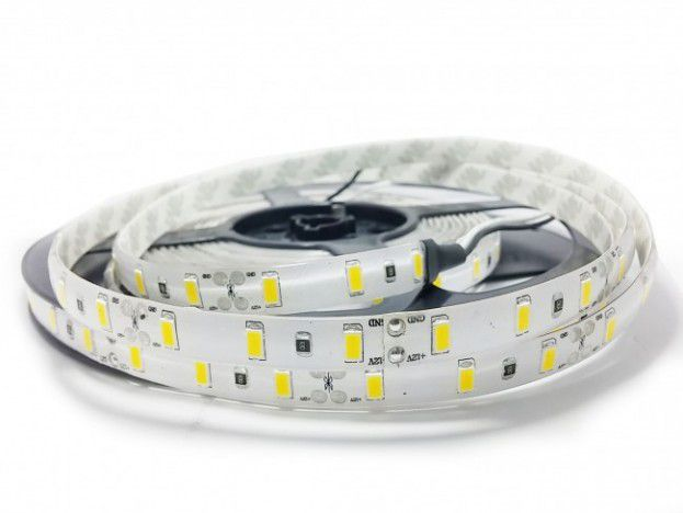 Fita LED 14.4W SMD5630 IP20 12V Branco Frio 6500K Rolo 5M