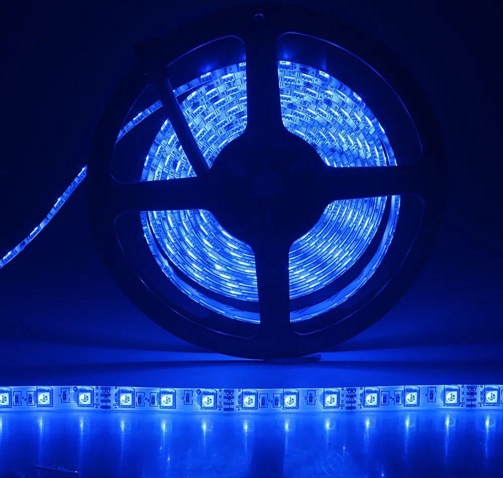 Fita LED 4,8W SMD5050 IP65 12V Azul Rolo 5M