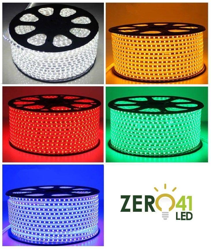 Fita LED 7.2W SMD5050 IP67 127V Branco Quente 3000K 1M