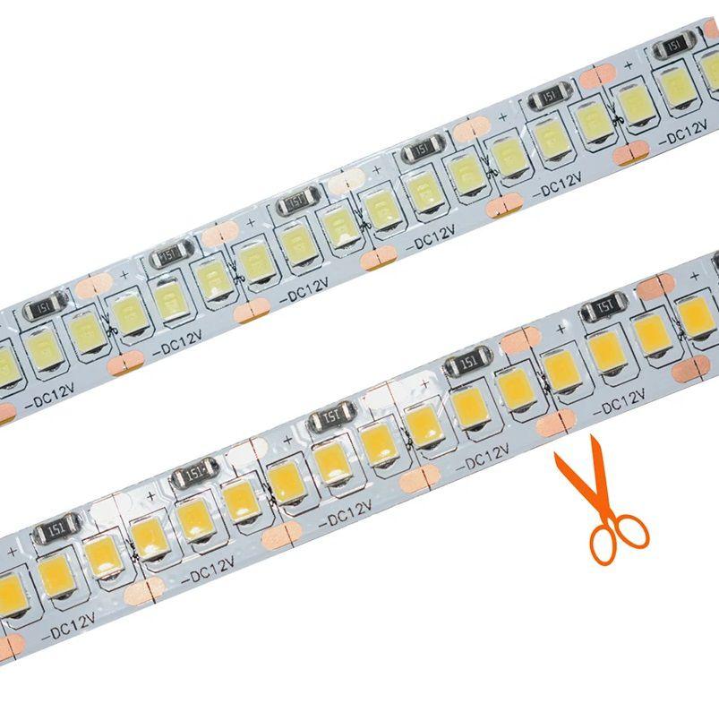 Fita LED SMD2835 IP20 12V 240Leds/m Branco Quente 3000K Rolo 5M